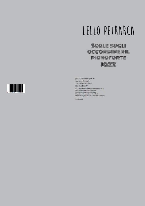 Lello Petrarca - scale sugli accordi per pianoforte jazz